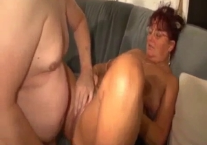 Busty grandma gets some jizz by her lovely grandson