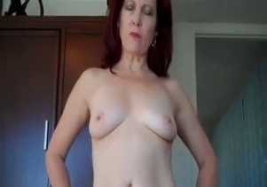 Awesome redhead mom seduced her lucky son