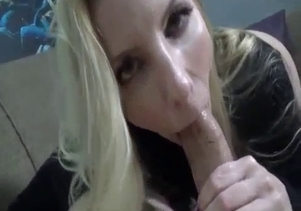 Bleached sister sucks my wiener in POV mode