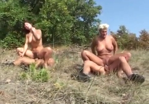 Two slutty siblings have insane outdoor incest