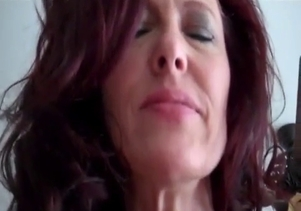 Redhead mom want to fuck with her son