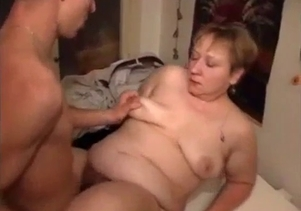Fat mom with big boobs banged by her son
